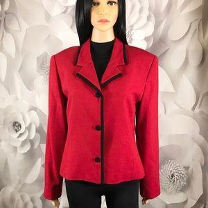 Blazer Red Talbots Jackets stretch size 10 P